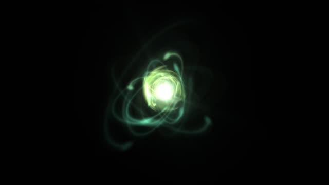 atomic particle system (loop). - プロトン点の映像素材/bロール