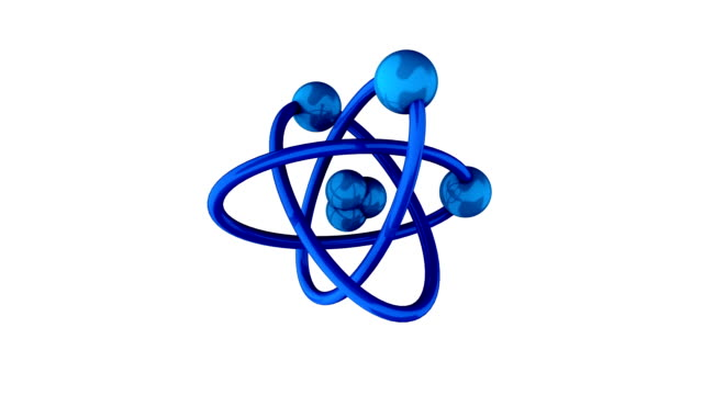 atomic structure | perfect seamless loop - hydrogen stock videos & royalty-free footage