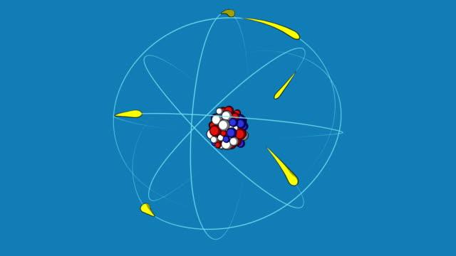 struttura atomica - fissione nucleare video stock e b–roll