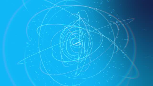 vidéos et rushes de atomes en orbite - nucléus