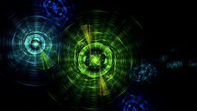 vídeos de stock, filmes e b-roll de átomos rodopiando no espaço - alta magnificação