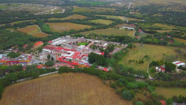 atotonilco church aerial - convent stock videos & royalty-free footage
