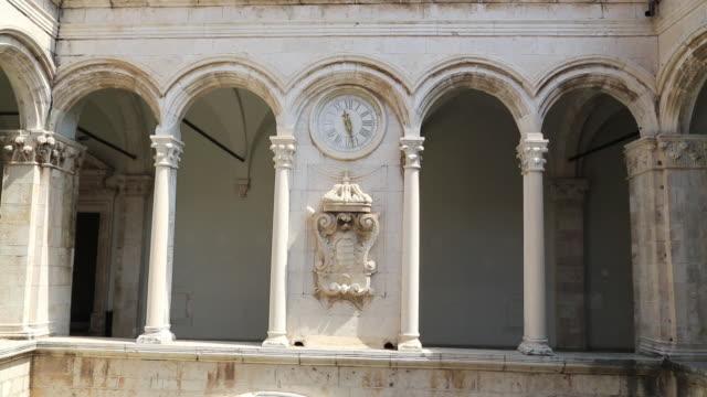 atrium of rector's palace, dubrovnik - circa 12th century stock videos & royalty-free footage