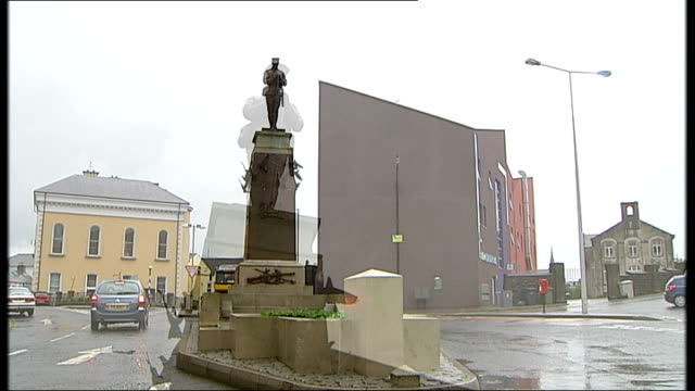 ira attack victims seek compensation from libya northern ireland county fermanagh enniskillen ext general views of war memorial including mid shot of... - libya stock videos & royalty-free footage