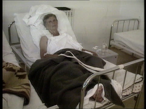 attacks on serb civilians bosnia herzegovina sokolac tcms small boys lying in hospital bed after attack on coach carrying serbian civilians as tcs... - rose window stock videos and b-roll footage