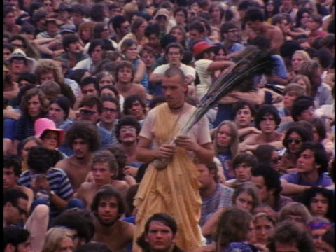 attendees at the woodstock music festival enjoy themselves in various ways. - 1969 stock videos & royalty-free footage