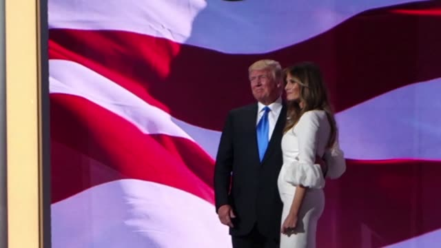 attendees of the republican convention were enthusiastic about a speech given by donald trumps wife melania as the keynote on monday night - republican national convention stock videos & royalty-free footage