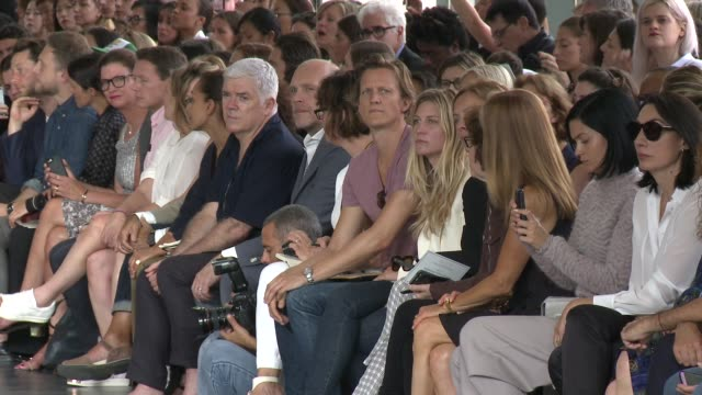 attendees watch models walk the runway at jason wu - runway - spring 2015 mercedes-benz fashion week at spring studios on september 05, 2014 in new... - mercedes benz fashion week stock videos & royalty-free footage