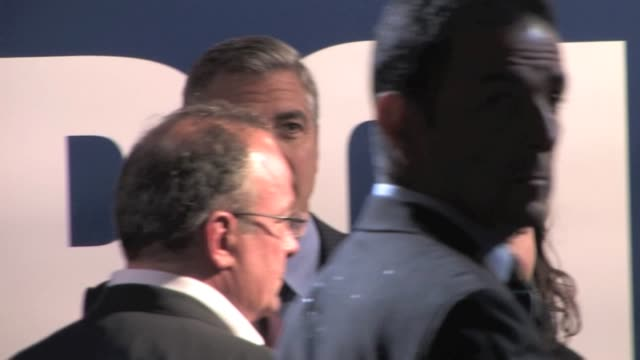 attending ides of march premiere on october 18 2011 in paris france - george clooney stock videos and b-roll footage
