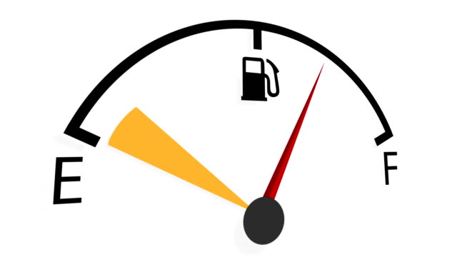 attention to the fuel gauge