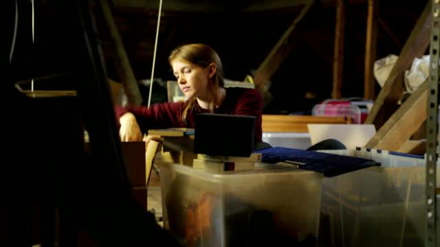 attic searching    li co - loft stock videos and b-roll footage