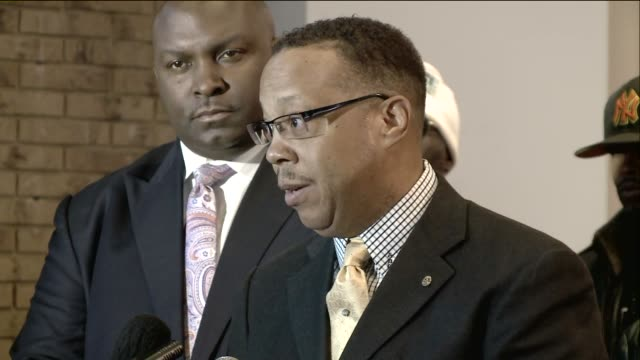 attorney anthony d gray talks about the brown family's reaction to the report from the department of justice on ferguson and its decision not to... - department of justice stock videos & royalty-free footage