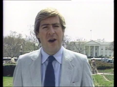 edwin meese:; usa: washington: white house: cms stourton i/c sof & sign off tx:30.3.88/c4n - report produced segment stock videos & royalty-free footage