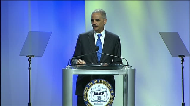 "attorney general eric holder says laws that expand self-defense, like the ""stand your ground"" law, should be questioned. - crime or recreational drug or prison or legal trial stock videos & royalty-free footage"