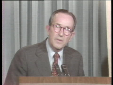 vidéos et rushes de attorney general griffin bell announces the nomination of federal judge frank johnson as fbi director. - nomination