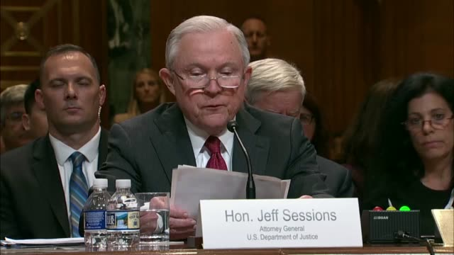 attorney general jeff sessions tells a senate appropriations subcommittee at a fiscal 2019 budget hearing that organized crime drug enforcement task... - drug overdose stock videos and b-roll footage
