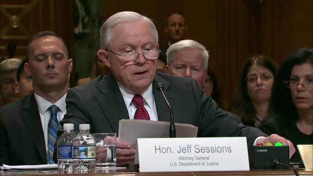 attorney general jeff sessions tells a senate appropriations subcommittee at a fiscal 2019 budget hearing that there were good signs in preliminary... - drug overdose stock videos and b-roll footage