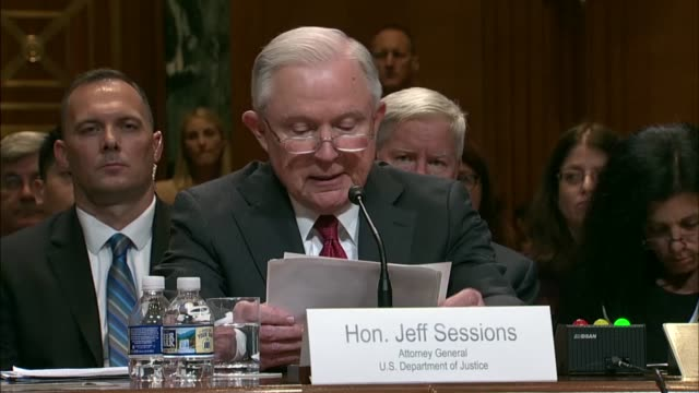 attorney general jeff sessions tells a senate appropriations subcommittee at a fiscal 2019 budget hearing that rates of violent crime assaults rape... - prescription drug abuse stock videos & royalty-free footage