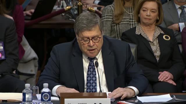 attorney general nominee william barr tells the senate judiciary committee it is the attorney general's responsibility to evenhandedly enforce the... - politics and government stock videos & royalty-free footage