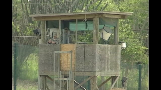 attorney general says guantanamo bay camp must close 2006 guantanamo bay naval base camp delta ext general views of prison camp - guantanamo bay stock videos & royalty-free footage