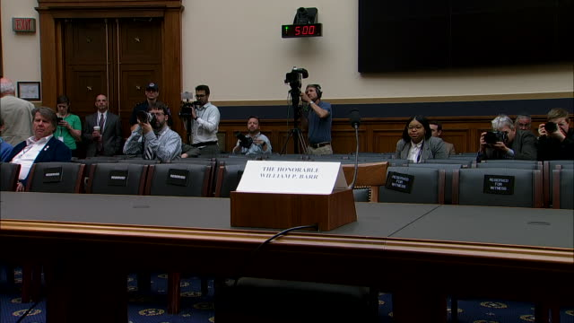 attorney general william barr is absent from his hearing on may 2, 2019 in washington d.c. - chromosome stock videos & royalty-free footage