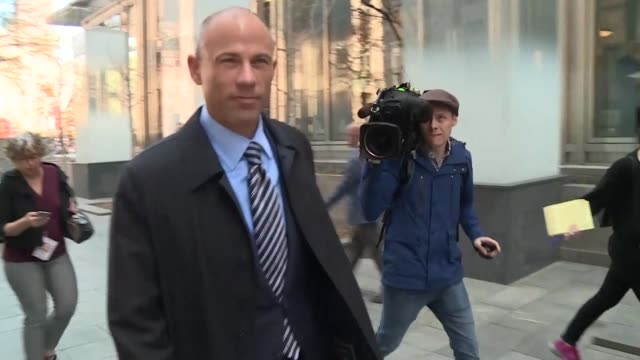 us attorney michael avenatti who shot to fame by representing adult film star stormy daniels is arrested after being accused of trying to extort... - stormy daniels video bildbanksvideor och videomaterial från bakom kulisserna