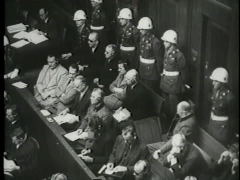 attorneys lay out their case during the nuremberg trials. - nuremberg trials stock videos & royalty-free footage