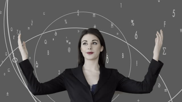 attractive caucasian businesswomen analyzing financial data numbers. female sales person thinking about business strategy - digital enhancement stock videos and b-roll footage