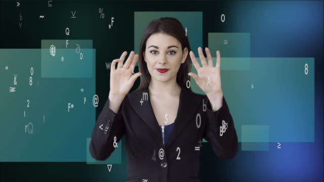 attractive caucasian businesswomen analyzing financial data numbers. female sales person thinking about business strategy - digital enhancement stock videos & royalty-free footage