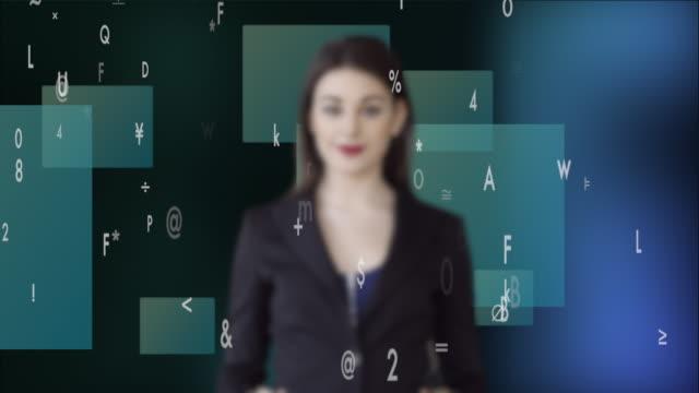 vídeos y material grabado en eventos de stock de attractive caucasian businesswomen analyzing financial data numbers. female sales person thinking about business strategy - aumento digital