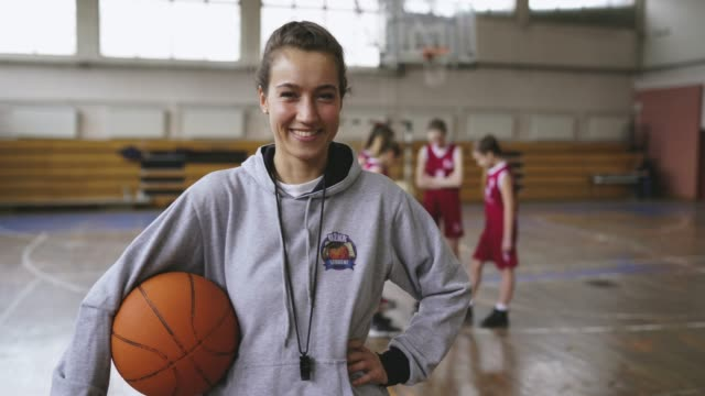attractive female basketball coach - manager stock videos & royalty-free footage