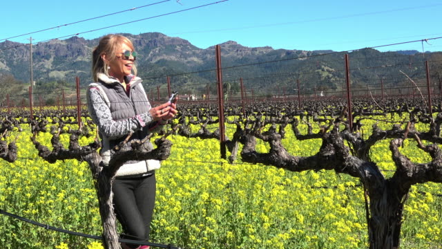 Attractive Fit Woman in the Vineyard in Napa Valley California