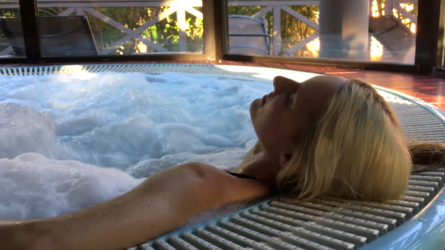 attractive woman at spa - hydrotherapy stock videos & royalty-free footage