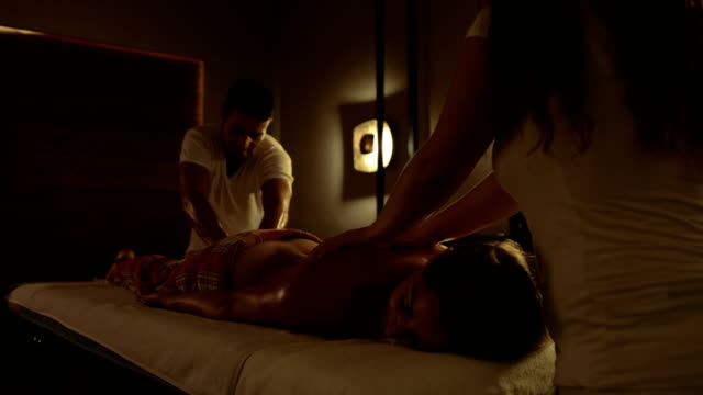 attractive woman getting massage - spa stock videos & royalty-free footage