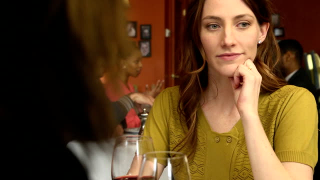 attractive woman on a bad date - social gathering stock videos & royalty-free footage