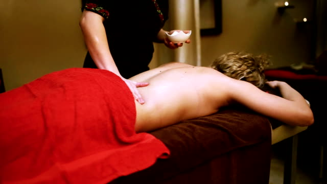 Attractive Woman On A Chic Oil Massage Therapy Stock Footage Video Getty Images