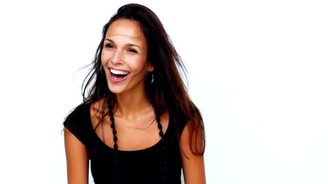 attractive young woman shaking her hair - ecstatic stock videos & royalty-free footage