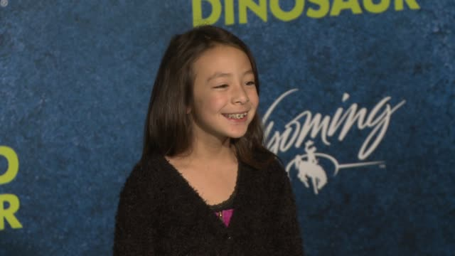aubrey andersonemmons at the good dinosaur world premiere at the el capitan theatre on november 17 2015 in hollywood california - el capitan theatre stock videos and b-roll footage