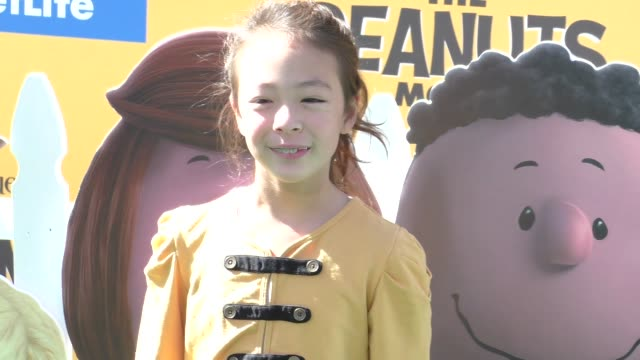 Aubrey AndersonEmmons at The Peanuts Movie Premiere at Regency Village Theatre in Westwood on November 01 2015 in Los Angeles California