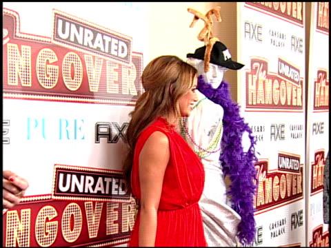 aubrey o'day at the 'the hangover' dvd launch event at las vegas nv - una notte da leoni video 2009 video stock e b–roll