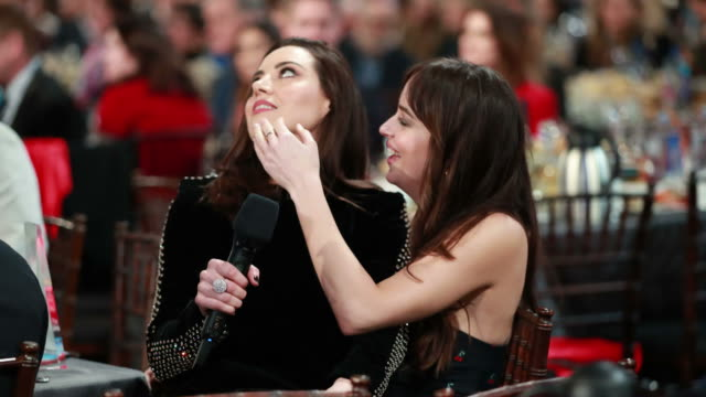 aubrey plaza and dakota johnson attend the 2019 film independent spirit awards on february 23 2019 in santa monica california - film independent spirit awards stock videos & royalty-free footage