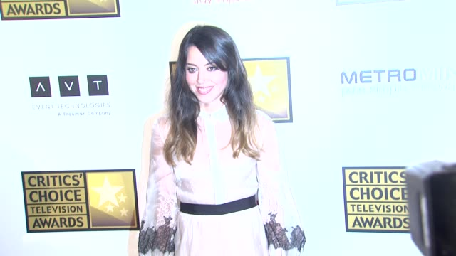 aubrey plaza at 2012 critics' choice television awards aubrey plaza at 2012 critics' choice television aw at the beverly hilton hotel on june 18 2012... - aubrey plaza stock videos and b-roll footage
