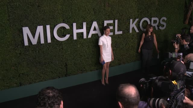 aubrey plaza at michael kors celebrates the launch of claiborne swanson frank's young hollywood on october 02 2014 in beverly hills california - aubrey plaza stock videos and b-roll footage