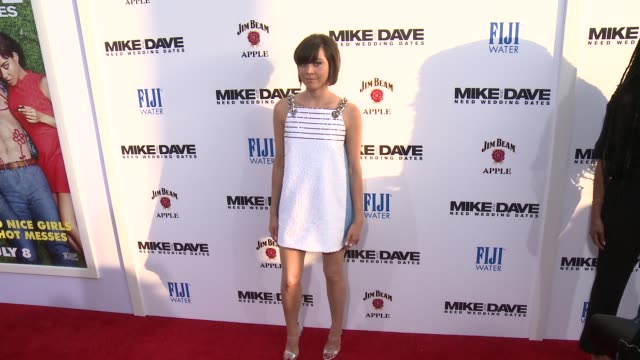 aubrey plaza at premiere of 20th century fox's mike and dave need wedding dates in los angeles ca - aubrey plaza stock videos and b-roll footage