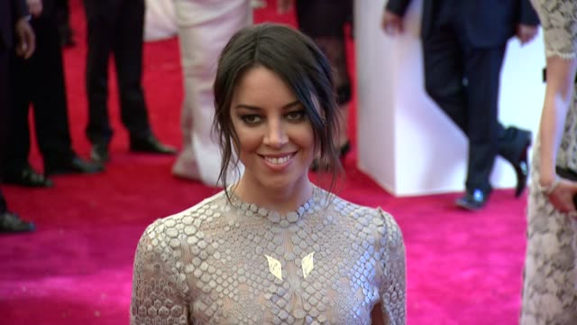 aubrey plaza at punk chaos to couture costume institute gala at metropolitan museum of art on may 06 2013 in new york new york - aubrey plaza stock videos and b-roll footage
