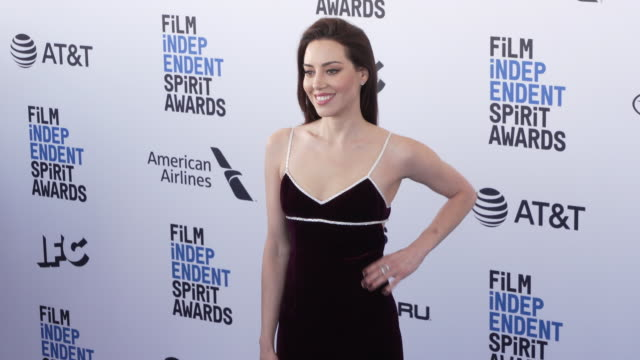 aubrey plaza at the 2019 film independent spirit awards on february 23 2019 in santa monica california - aubrey plaza stock videos and b-roll footage