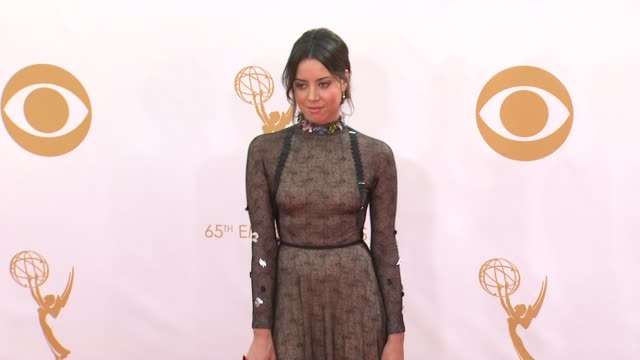aubrey plaza at the 65th annual primetime emmy awards arrivals in los angeles ca on 9/22/13 - aubrey plaza stock videos and b-roll footage
