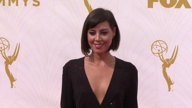 aubrey plaza at the 67th annual primetime emmy awards at microsoft theater on september 20 2015 in los angeles california - aubrey plaza stock videos and b-roll footage