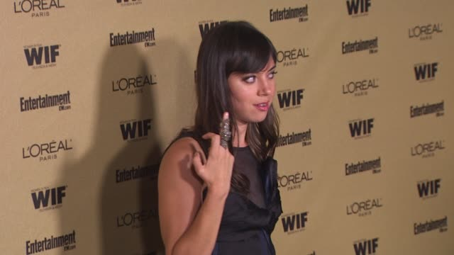 aubrey plaza at the entertainment weekly and women in film pre-emmy party at west hollywood ca. - pre emmy party stock videos & royalty-free footage