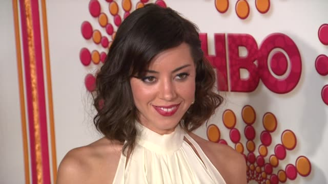 aubrey plaza at the hbo's annual emmy awards post award reception at los angeles ca - aubrey plaza stock videos and b-roll footage